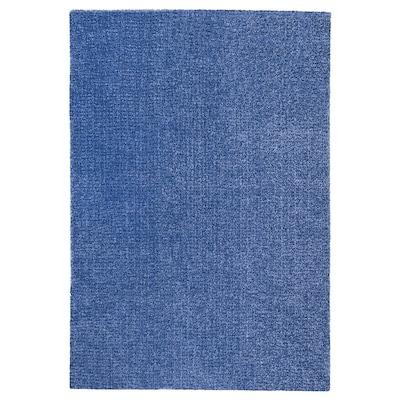 LANGSTED Vloerkleed, laagpolig, donkerblauw, 133x195 cm