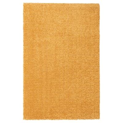 LANGSTED Vloerkleed, laagpolig, geel, 60x90 cm