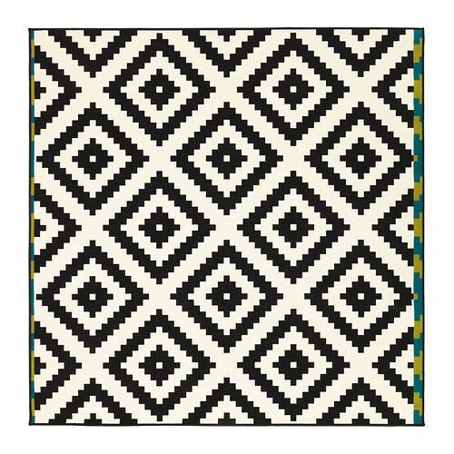lappljung ruta vloerkleed laagpolig 200x200 cm ikea. Black Bedroom Furniture Sets. Home Design Ideas
