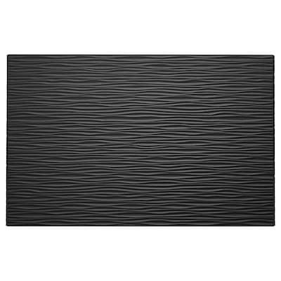 LAXVIKEN Deur/ladefront, zwart, 60x38 cm