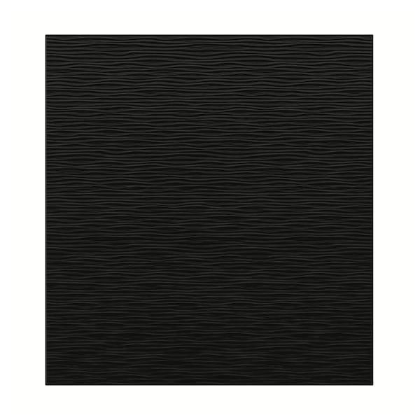 LAXVIKEN Deur, zwart, 60x64 cm