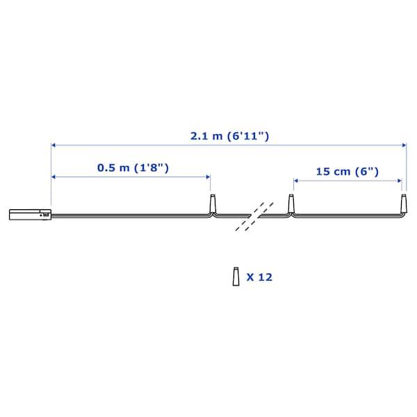 LEDFYR Led-lichtsnoer met 12 lampjes, binnen/op batterijen zilverkleur