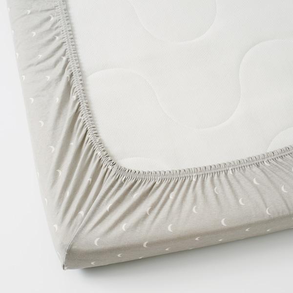 LENAST Hoeslaken voor babybed, gestippeld/maan, 60x120 cm