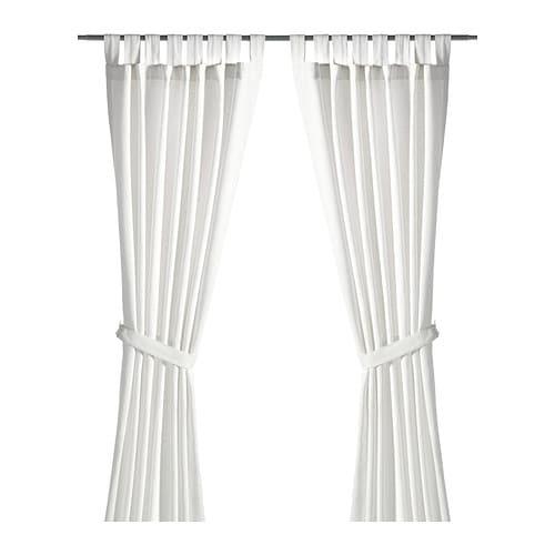 LENDA Gordijnen met embrasse, 1 paar , gebleekt wit Lengte: 300 cm Breedte: 140 cm Gewicht: 1.00 kg