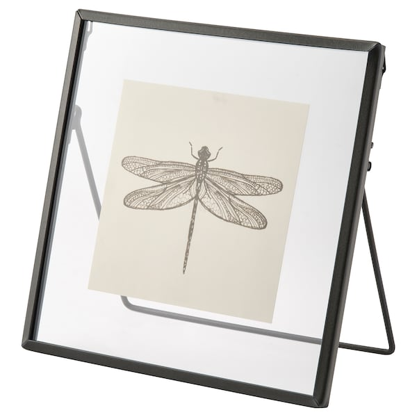 LERBODA Fotolijst, donkergrijs, 16x16 cm