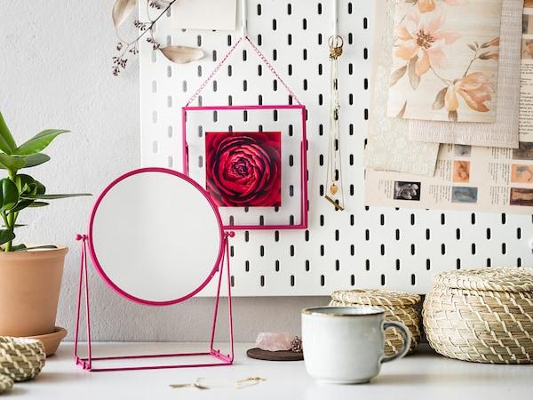 LERBODA Fotolijst, roze, 16x16 cm