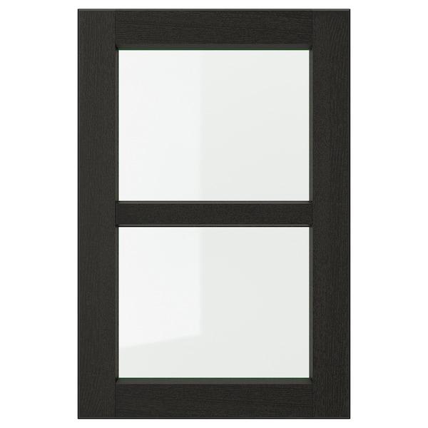 LERHYTTAN Vitrinedeur, zwart gelazuurd, 40x60 cm