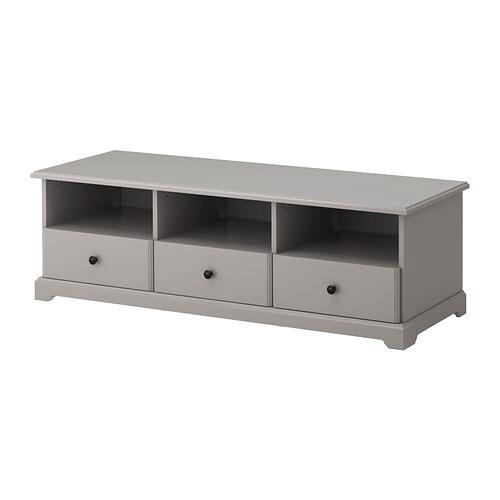 LIATORP Tv-meubel IKEA Soepel lopende lades met blokkeerstukken die de ...