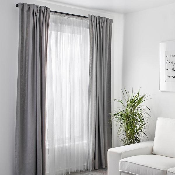 LILL Gordijnen met kantwerk, 1 paar, wit, 280x300 cm