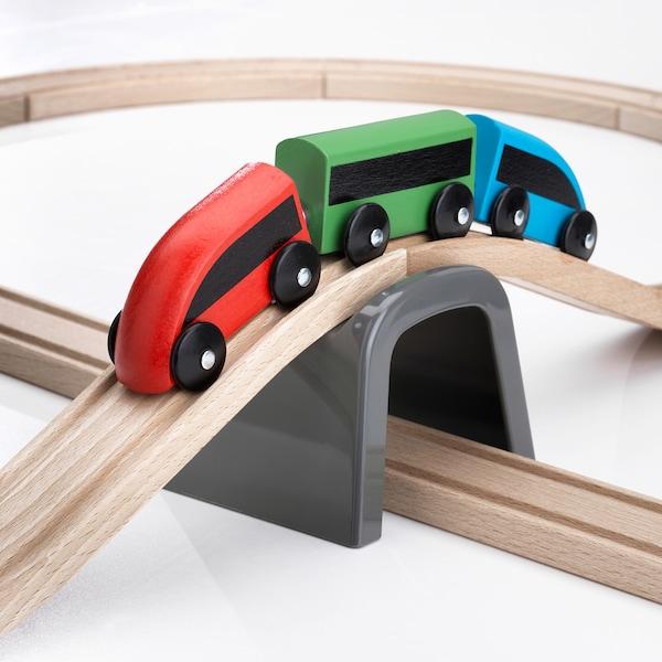 LILLABO Basisset trein 20-delig, veelkleurig