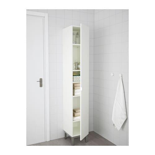 LILLÅNGEN Hoge kast - wit/aluminium - IKEA