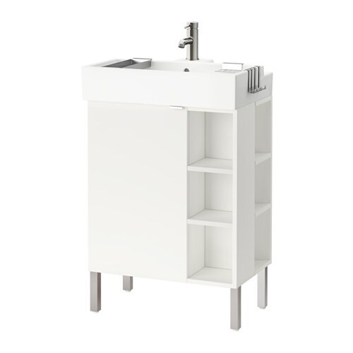 Cement Muur Badkamer ~ LILL?NGEN Kast voor wastafel 1deur 2afslelem  wit  IKEA