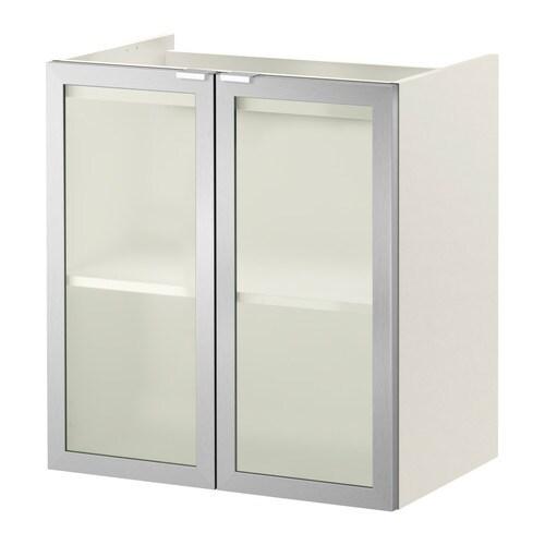 LILL u00c5NGEN Kastje voor onder wastafel 2 deuren   60x38x64 cm, wit  aluminium   IKEA