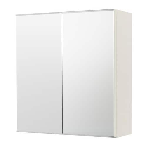 Hoogte Spiegelkast Badkamer.Lillangen Spiegelkast Met 2 Deuren Wit Ikea
