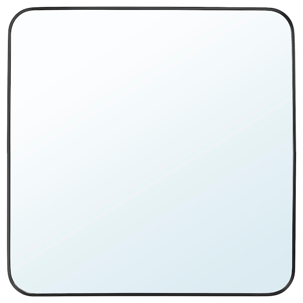 LINDBYN Spiegel, zwart, 60x60 cm
