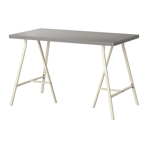 LINNMON    LERBERG Tafel   grijs  wit   IKEA