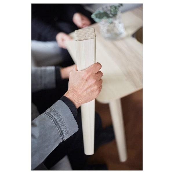 LISABO / LEIFARNE Tafel en 4 stoelen, essenfineer/wit, 140x78 cm