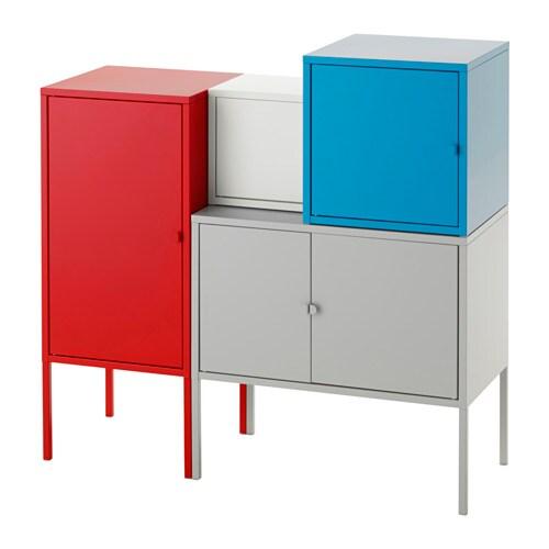 LIXHULT Opbergcombinatie IKEA Een kleurrijke, kant-en-klare combinatie ...