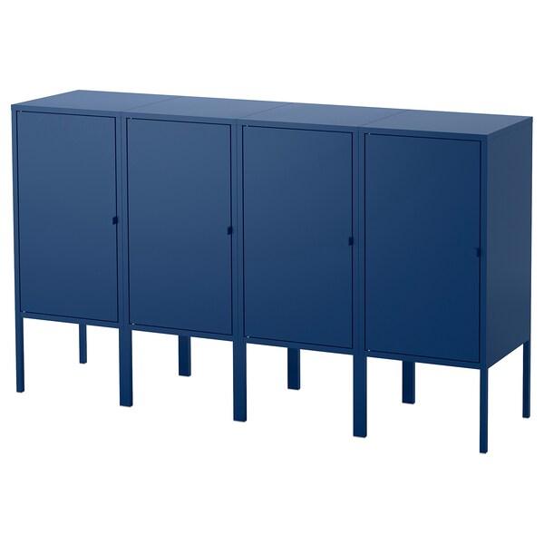 LIXHULT opbergcombinatie donkerblauw 60 cm 82 cm 140 cm 35 cm 82 cm 21 cm 12 kg