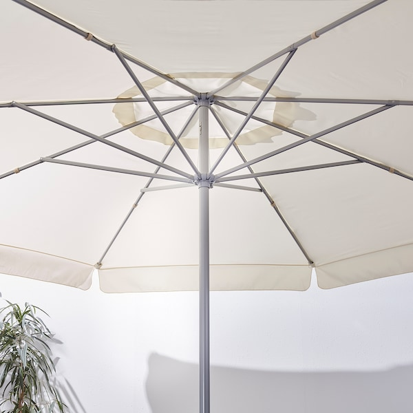 LJUSTERÖ Parasol, beige, 400 cm