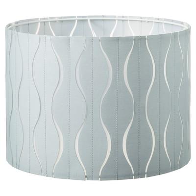 LÖKNÄS Lampenkap, blauw/zilverkleur, 33 cm