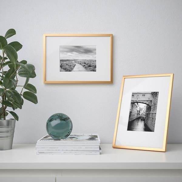 LOMVIKEN Fotolijst, goudkleur, 21x30 cm