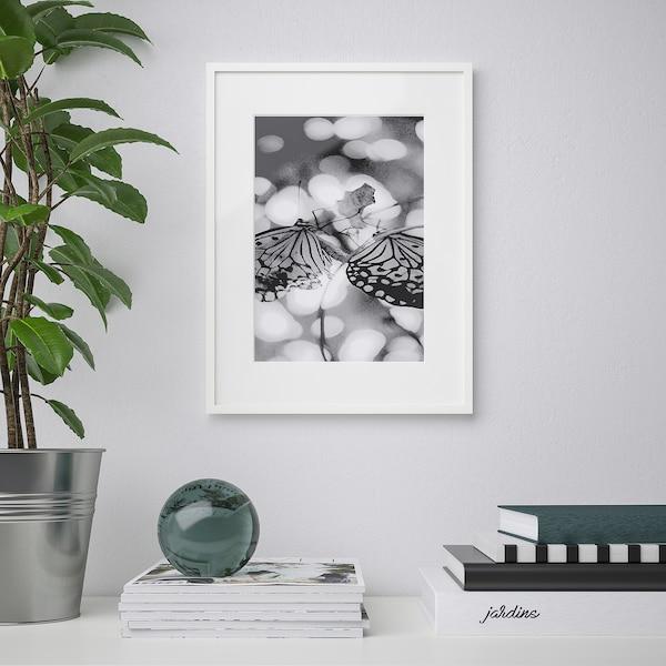 LOMVIKEN Fotolijst, wit, 30x40 cm