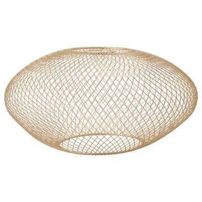 LUFTMASSA Lampenkap, messingkleur ovaal patroon, 37 cm