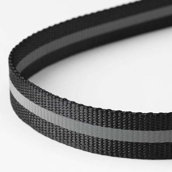 LURVIG Reflecterende riem, zwart, 2.5x123 cm/32 kg