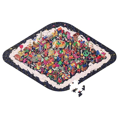 LUSTIGT puzzel 65 cm 40 cm