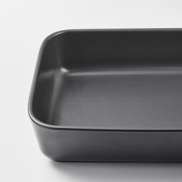 LYCKAD Oven-/serveerschaal set van 2, donkergrijs