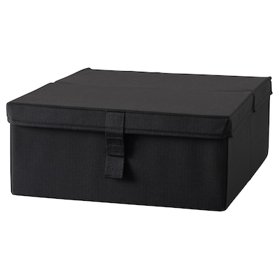 LYCKSELE Opberger slaapfauteuil, zwart
