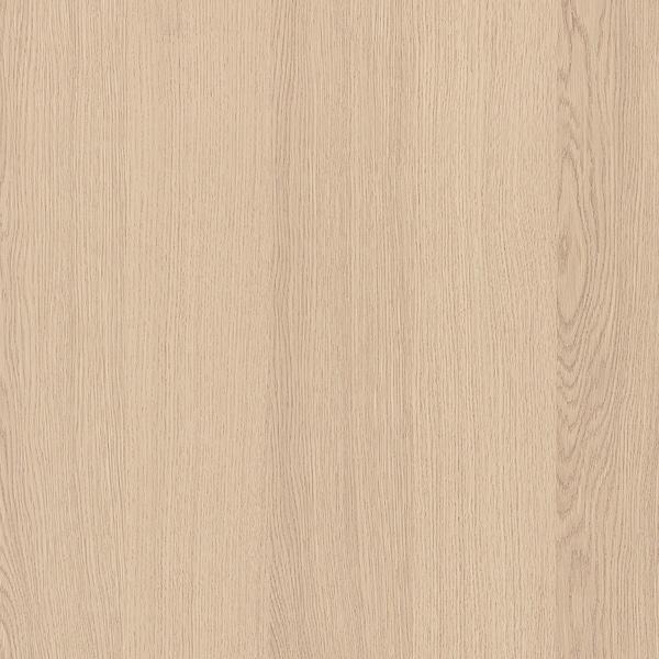 MALM Bedframe, hoog, met 2 bedlades, wit gelazuurd eikenfineer/Leirsund, 160x200 cm