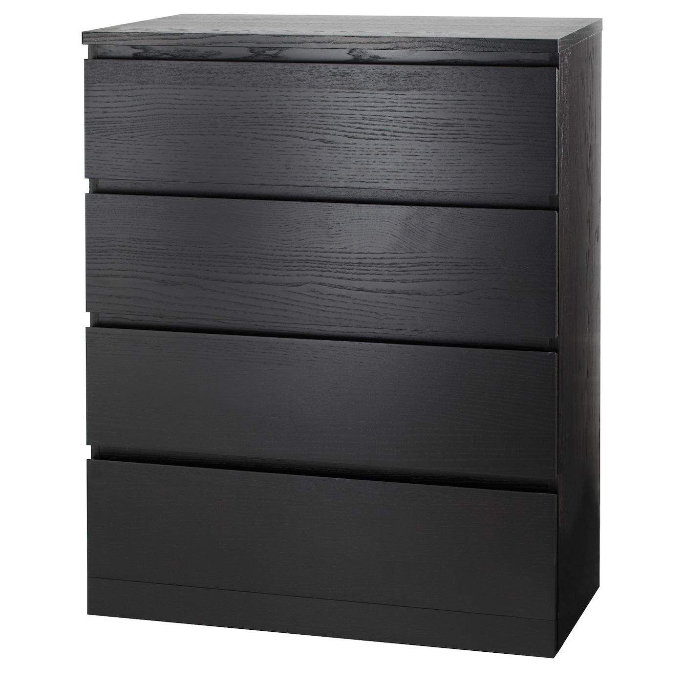 IKEA - MALM Ladekast met 4 lades - 80x100 cm - Zwartbruin