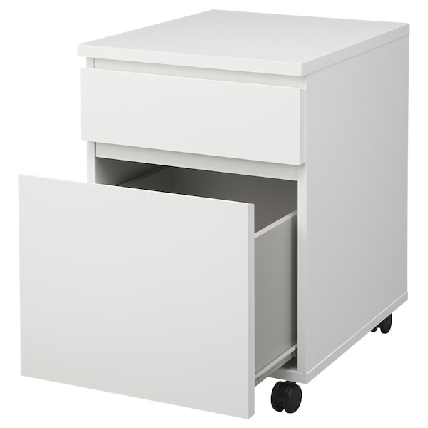MALM Ladeblok op wielen, wit, 42x59 cm