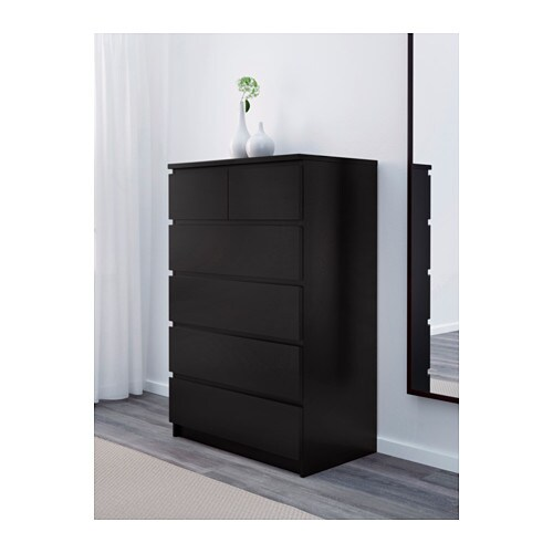Zwarte Ladenkast Slaapkamer.Malm Ladekast 6 Lades Wit Ikea