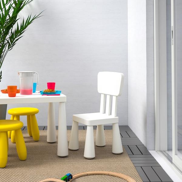 MAMMUT kinderstoel binnen/buiten/wit 39 cm 36 cm 67 cm 26 cm 30 cm