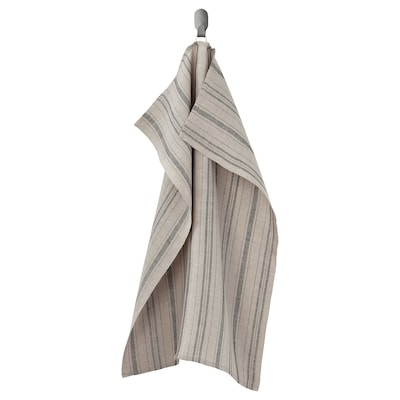 MARIATHERES Theedoek, linnen beige/streep, 50x70 cm