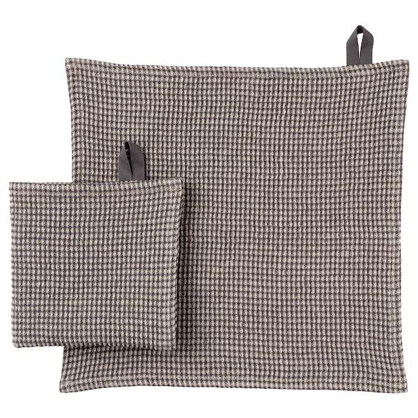 MARIATHERES Vaatdoek, grijs/beige, 30x30 cm