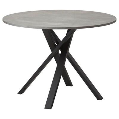 MARIEDAMM tafel donkergrijs 105 cm 75 cm