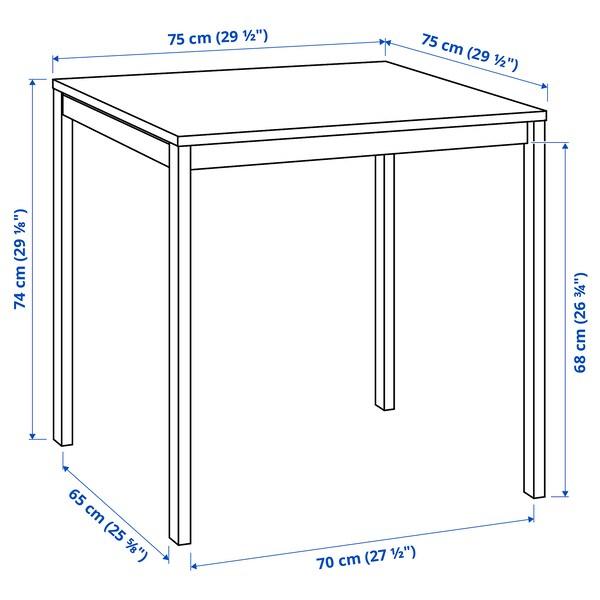 MELLTORP Tafel, mozaïekpatroon/wit, 75x75 cm