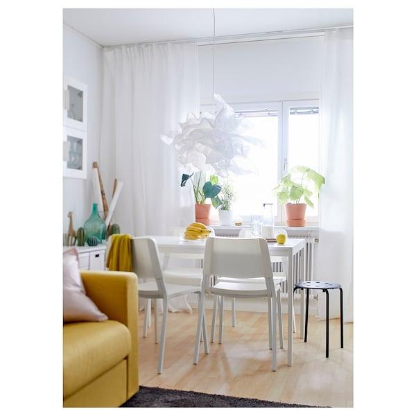 MELLTORP Tafel, wit, 125x75 cm