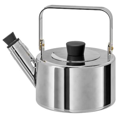 METALLISK fluitketel roestvrij staal 1.5 l