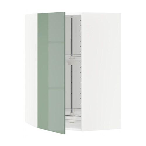 metod bovenhoekkast met carrousel wit kallarp hoogglans lichtgroen 68x100 cm ikea. Black Bedroom Furniture Sets. Home Design Ideas