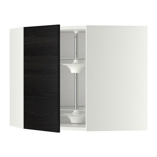metod bovenhoekkast met carrousel wit tingsryd houteffect zwart 68x60 cm ikea. Black Bedroom Furniture Sets. Home Design Ideas