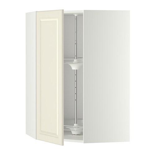 metod bovenhoekkast met carrousel wit bodbyn ecru 68x100 cm ikea. Black Bedroom Furniture Sets. Home Design Ideas