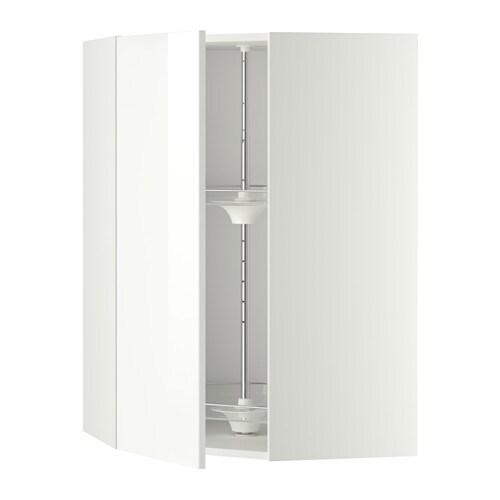metod bovenhoekkast met carrousel wit ringhult hoogglans wit 68x100 cm ikea. Black Bedroom Furniture Sets. Home Design Ideas