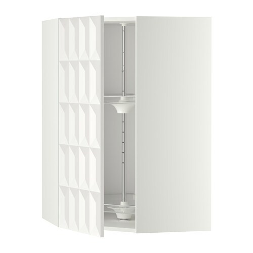 metod bovenhoekkast met carrousel wit herrestad wit 68x100 cm ikea. Black Bedroom Furniture Sets. Home Design Ideas