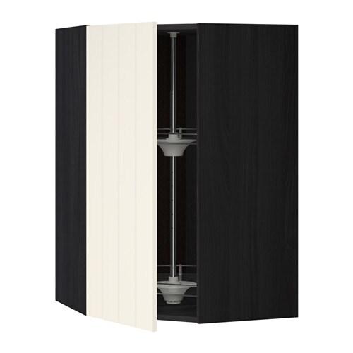 metod bovenhoekkast met carrousel houteffect zwart hittarp ecru 68x100 cm ikea. Black Bedroom Furniture Sets. Home Design Ideas