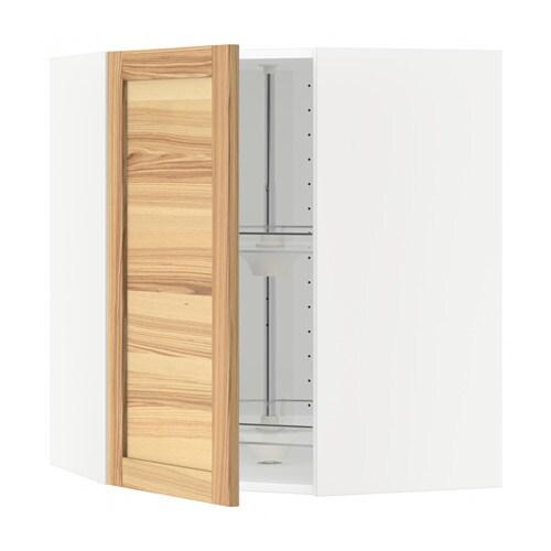 metod bovenhoekkast met carrousel wit torhamn naturel essen 68x80 cm ikea. Black Bedroom Furniture Sets. Home Design Ideas